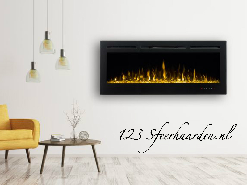electrische inbouwhaard Noble Flame Paris 1280mm met kacheltje