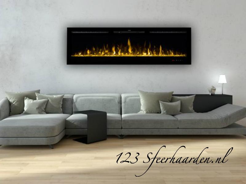 electrische inbouwhaard 1830mm met kachel Noble Flame Paris 182 cm