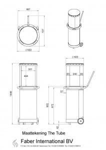 Maattekening 123 sfeerhaarden elektrische haarden en for Gas tuinhaard