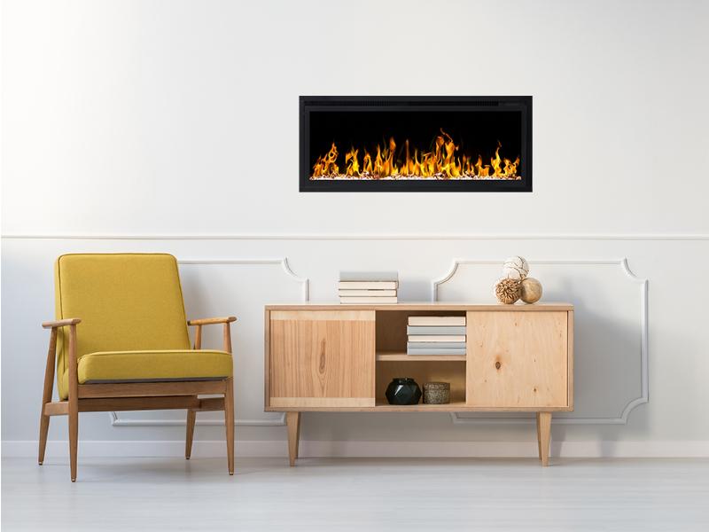 Elegante elektrische inbouwhaard Noble Flame Paris 1060 met verwarming