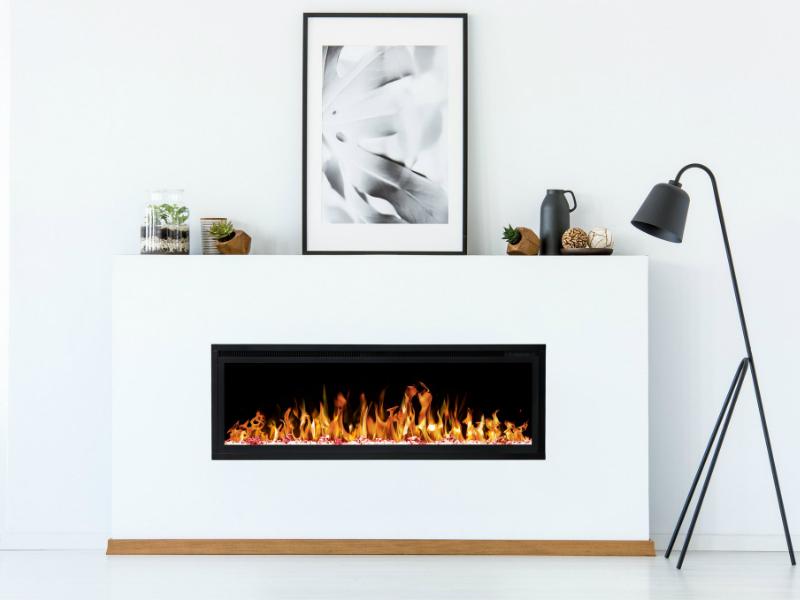 elegante elektrische inbouwhaard Noble Flame Paris 1280 met verwarming