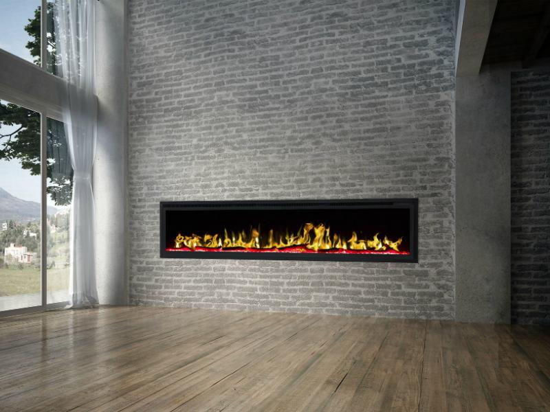 elegante elektrische inbouwhaard Noble Flame 1830 met verwarming