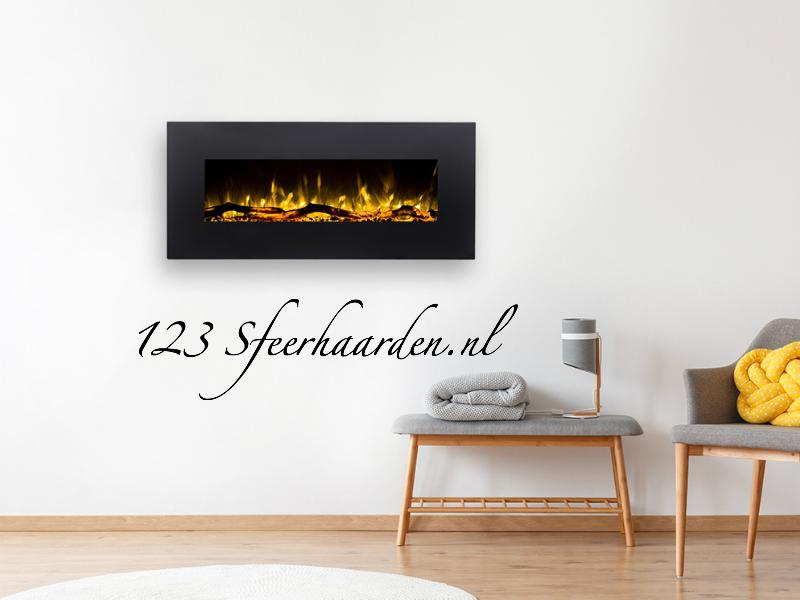 electrische sfeerhaard aan de muur met verwarming kachel Dimplex SP16