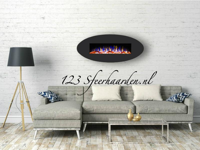 elektrische LED wand sfeerhaard met regelbare vlammen en warmtefunctie