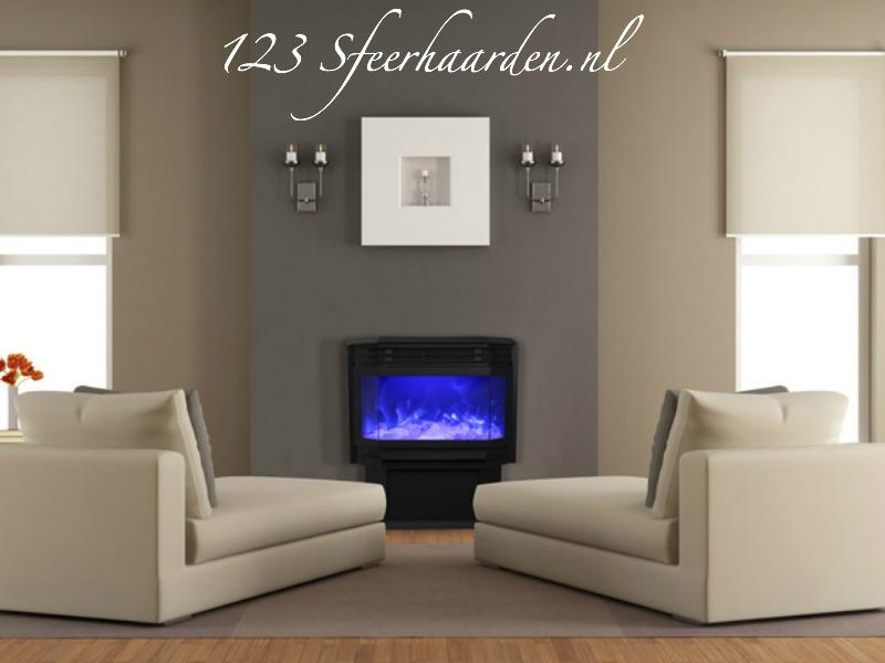 Amantii vrijstaande elektrische sfeerhaard FS met verwarming