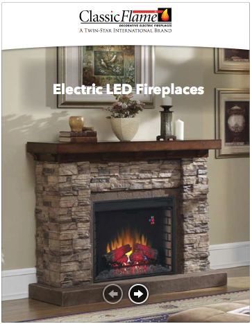 Leaflet Classicflame electric fireplaces