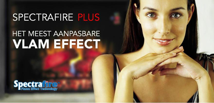 Het meest aanpasbare vlam effect met instelbare kleuren Spectrafire plus