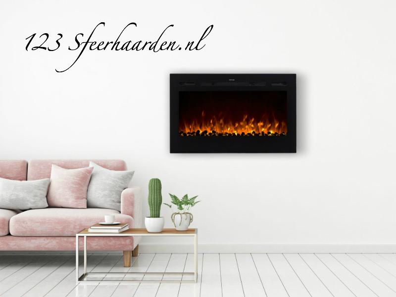 elektrische inbouwhaard Noble Flame Paris 920mm met kacheltje