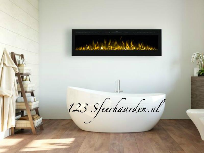 electrische inbouwhaard Noble Flame 165 cm met kachel multi Color