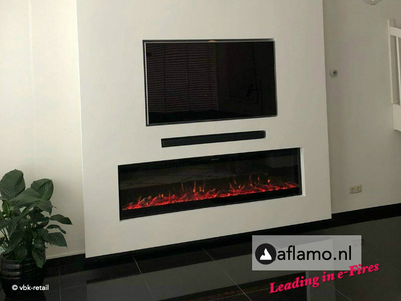AKTIE - Noble Flame LED wand televisiehaard
