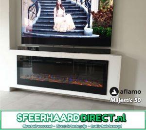 TV haard - plaats uw televisie boven uw elektrische inbouwhaard Gazco Radiance